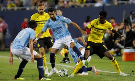 Pep Guardiola praises Riyad Mahrez's Manchester City debut – video
