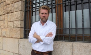 Portrait of novelist Jason Webster in Valencia.