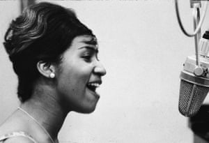 Aretha Franklin during her first recording session at Columbia (now Sony) Records, New York, 1961