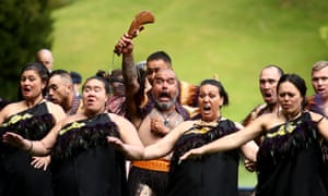 A traditional Māori welcome given to the Prince of Wales and the Duchess of Cornwall in Auckland