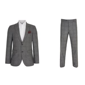 Grey blazer and trousers from Next