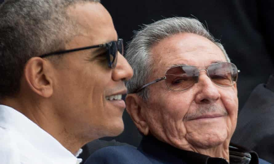 Barack Obama and Raúl Castro at a baseball game in Havana, Cuba, in March - the first visit by a US president in 88 years.