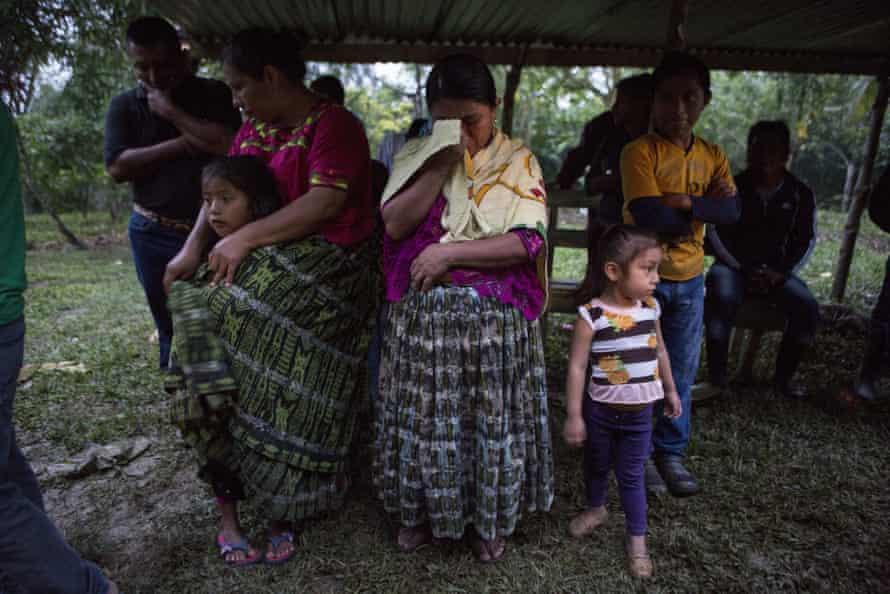 Villagers in tears in San Antonio Secortez, where Jakelin grew up.