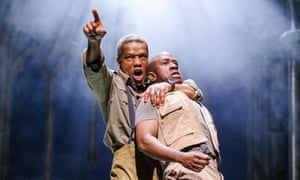 Hugh Quarshie as Othello and Lucian Msamati as Iago