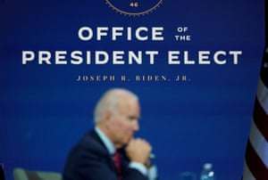 U.S. President-elect Joe Biden holding a videoconference meeting yesterday