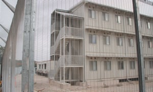 A Wilson Security accommodation block at the Australian-run Manus Island asylum seeker detention centre. Wilson Security is a Transfield subcontractor and has been accused of a series of abuses.