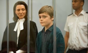 Michelle Fairley and Billy Barratt in Responsible Child.