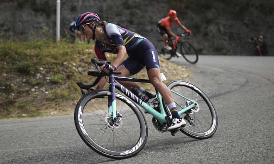 Poland's Katarzyna Niewiadoma rides during last year's race near Nice.