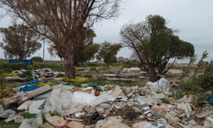 What remains of the illegal camp for seasonal workers in Campobello di Mazara. About 1,300 people looking for work in the fields lived there from October to December