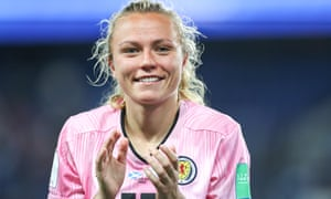 Scotland's Claire Emslie during a match in Paris between Scotland and Argentina on 19 June at the FIFA Women's World Cup.