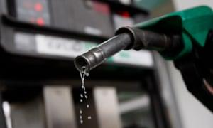 a petrol pump dripping