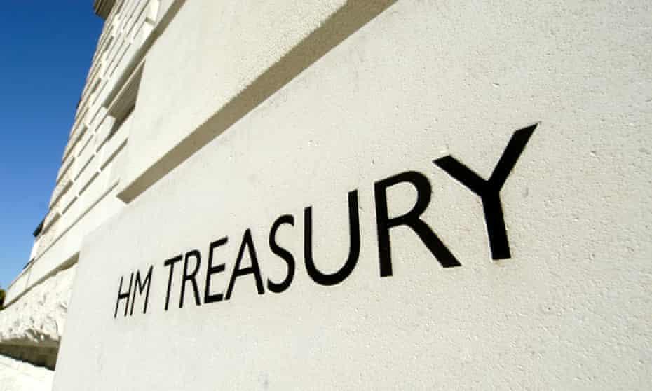 HM Treasury nameplate