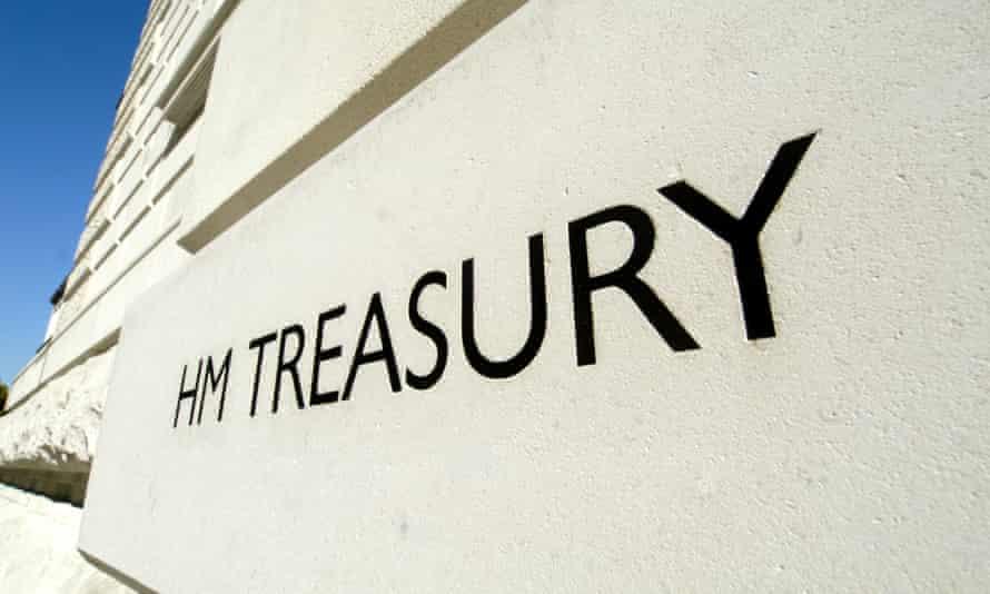 HM Treasury in Whitehall, London.