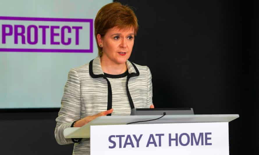 """Nicola Sturgeon has kept the """"stay at home"""" message."""
