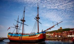 A replica of Captain James Cook's HM Bark Endeavour