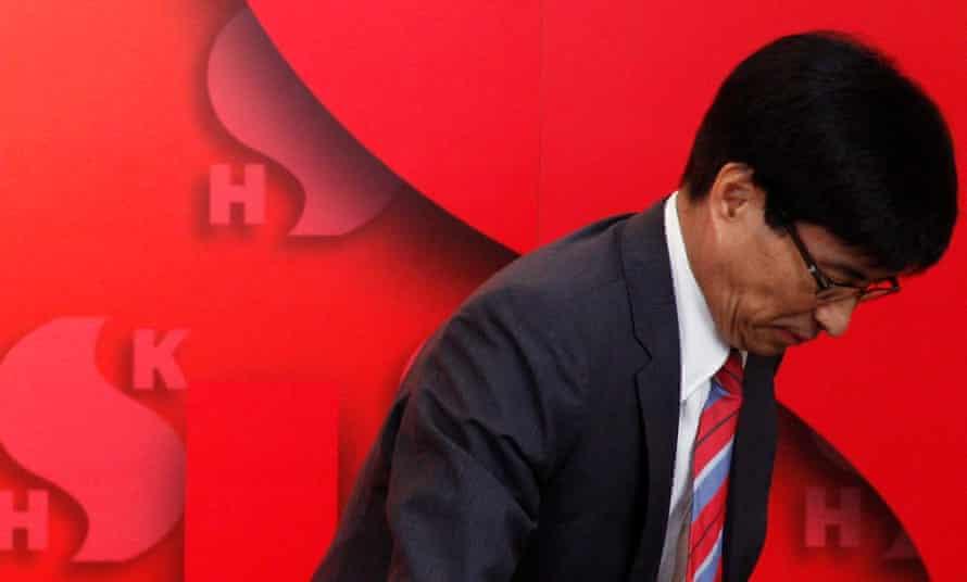 Sun Hung Kai Properties executive Thomas Chan Kui-yuen at a media conference in Hong Kong