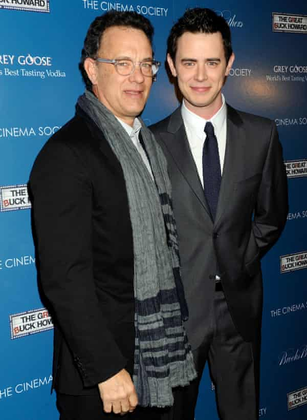 Tom Hanks with his actor son Colin