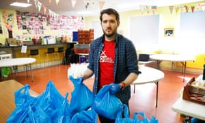 Paul Sweeney at Possilpoint community centre, where he volunteers at a food bank.