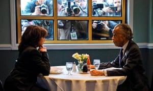 Sharpton dined with Kamala Harris at Sylvia's in February.