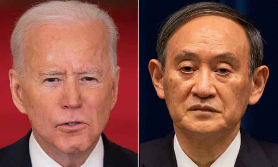 Suga will be the first foreign leader received at the White House by Biden