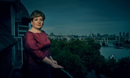 Emily Thornberry, photographed outside her office in Portcullis House, Westminster, last month