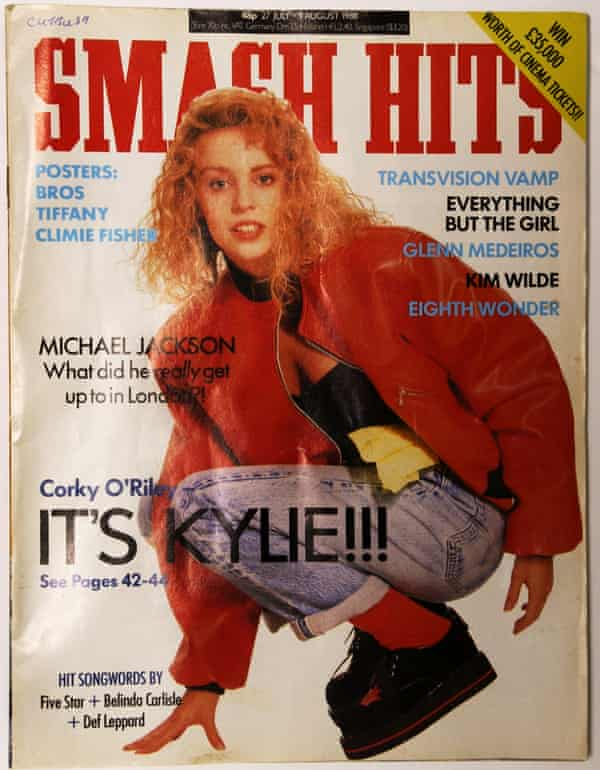 Kylie Minogue on the cover of Smash Hits