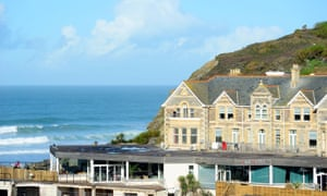 The Watergate Bay hotel near Newquay in Cornwall.