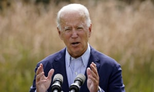 Joe Biden speaks out about climate change and wildfires affecting the US in September.