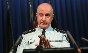 The acting AFP Commissioner, Neil Gaughan, speaks
