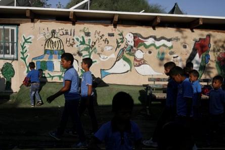 The school in Khan al-Ahmar