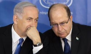 Binyamin Netanyahu with Moshe Ya'alon in February