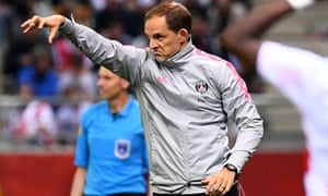Thomas Tuchel during PSG's defeat at Reims on Friday.