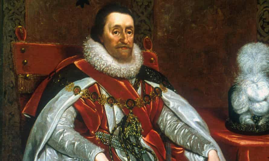 A portrait of King James I by the Dutch artist Daniel Mytens, dating from 1621