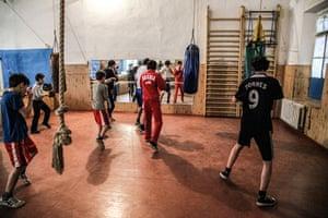 Boxing training in Sukhumi, Abkhazia