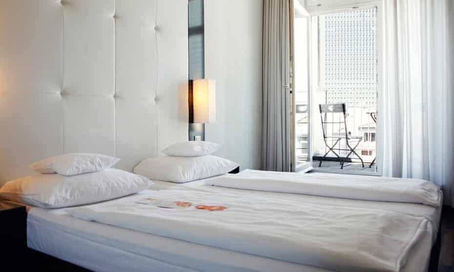 A balcony double room at The Pure hotel, Frankfurt, Germany.