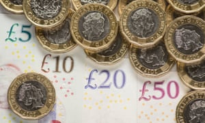 Pound coins and UK banknotes