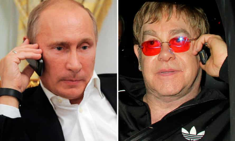 Elton John got a real call from Vladimir Putin, says Kremlin.