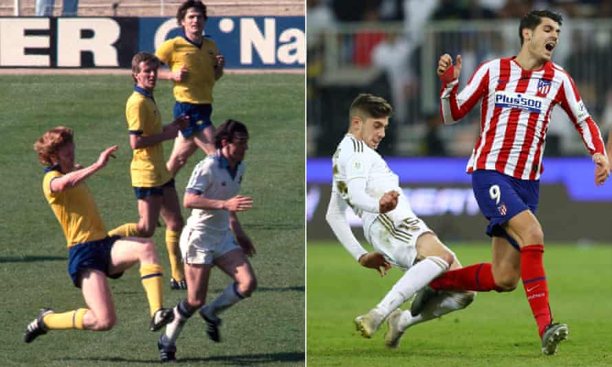 Willie Young brings down Paul Allen in the FA Cup final in 1980 and Federico Valverde does the same to Álvaro Morata in the Supercopa in Jeddah.