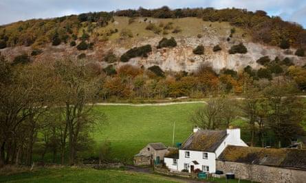 A farm with Arnside Knott behind, Cumbria.