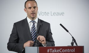 Dominic Raab giving a speech at a Vote Leave event on Wednesday.