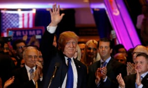 Donald Trump speaks at his New York presidential primary night rally