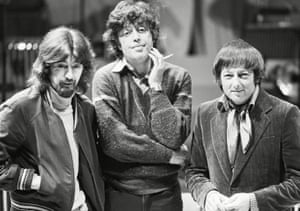 From left, Trevor Nunn, Tom Stoppard and André Previn during Every Good Boy Deserves Favour in London in 1978.
