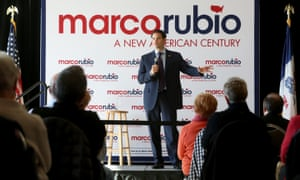 Republican presidential candidate Marco Rubio speaks during a meet-and-greet event at the Grand River Center in Dubuque, Iowa.