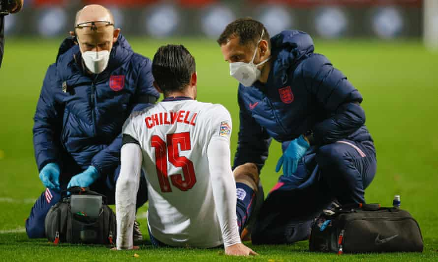 Ben Chilwell was the latest England player to pick up an injury during Sunday's defeat in Belgium.