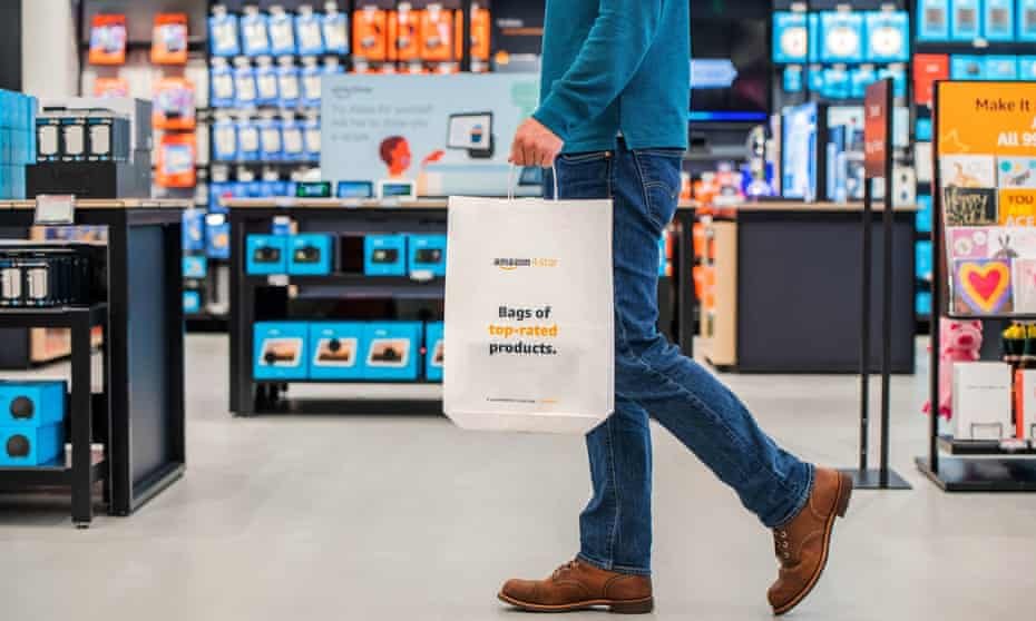 The interior of Amazon's first 4-star store outside US. The store is located in Bluewater, near Dartford in Kent