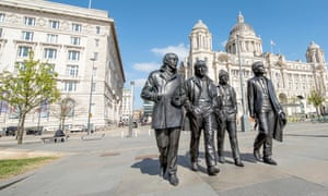 Ticket to ride: a sculpture of the Beatles at Liverpool Docks.