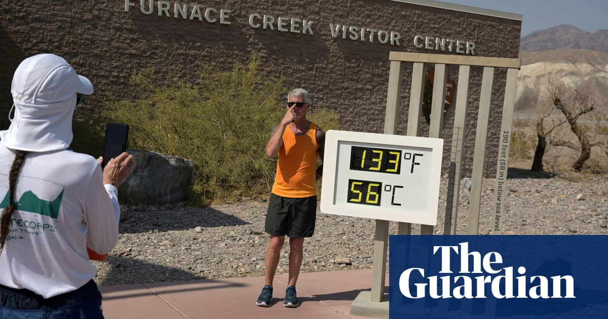 Health warnings as Death Valley scorches in 54.4C heat