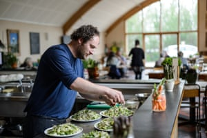 Head chef James Dodd at Riverford.
