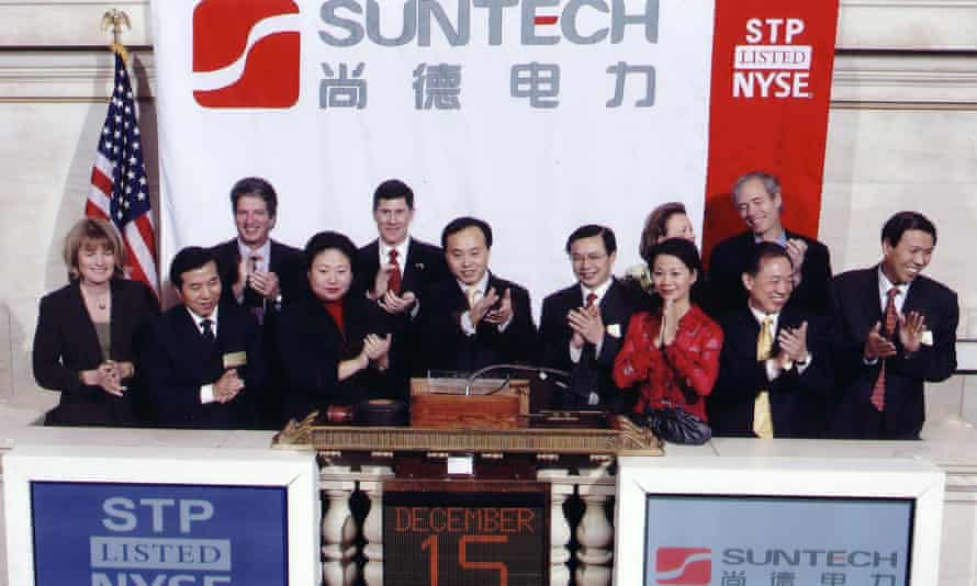 The listing of Chinese solar panel manufacturer SunTech on the New York Stock Exchange in 2005