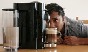 This coffee machine is smarter than me … Rhik Samadder with the Nespresso Vertuo.